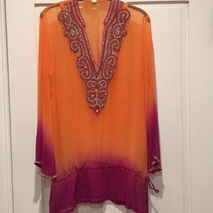 Jeweled Cover-Up/Summer Tunic